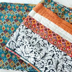 20 36 bohemian quilted pillow shams floral