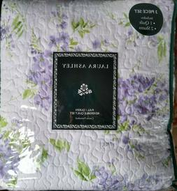 LAURA ASHLEY $200 NEW Quilt and Shams set QUEEN 3PC FLORAL P