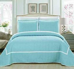 Chic Home 3 Pc Quilt Cover Set Birmingham Quilted Bedding, B