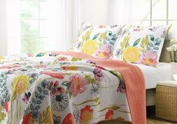 Greenland Home 3-Piece Watercolor Dream Quilt Set, Multiple