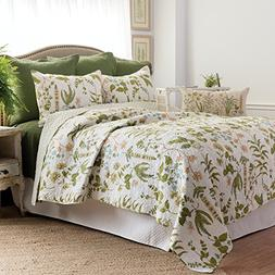 C&F Home Anessa Quilt, King, Green