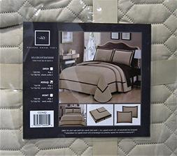 Chic Home 3 Piece Birmingham Hotel Collection 2 Tone Banded