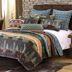 Black Bear Lodge Quilt Set by Greenland Home