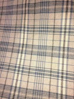 BULL DENIM CHECKERED PLAID UPHOLSTERY FABRIC BROWNS SHADES Y