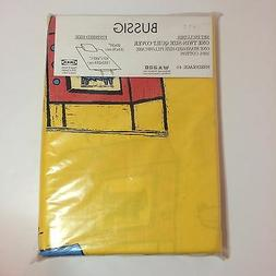 IKEA Bussig 100% Cotton Yellow Twin Size Quilt Cover & Pillo