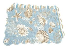 C&F Home Natural Shells Rectangular Quilted Placemat, 13x19