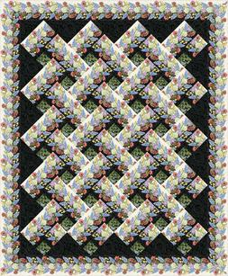 CHEVRON WILDFLOWERS QUILT QUILTING PATTERN, from Animas Quil