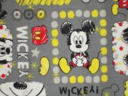 Disney Baby Mickey Mouse on Grey Quilting Fabric Camelot 100