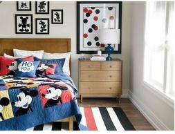 Disney Color Block Mickey Mouse Quilt, Sham,Pillow-Ethan All