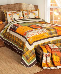 Full Queen King Quilt Set Bedding Autumn Fall Decorations fo