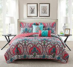 VCNY Home Full/Queen Size Quilt Set in Multicolor Bohemian S