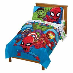 Jay Franco Marvel Avengers Heroes Amigos 4 Piece Toddler Bed
