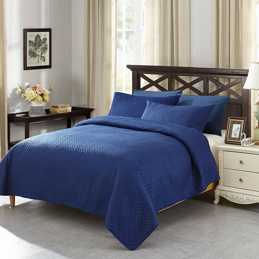 3PCS Quilts Bedspreads Set Queen/King Size