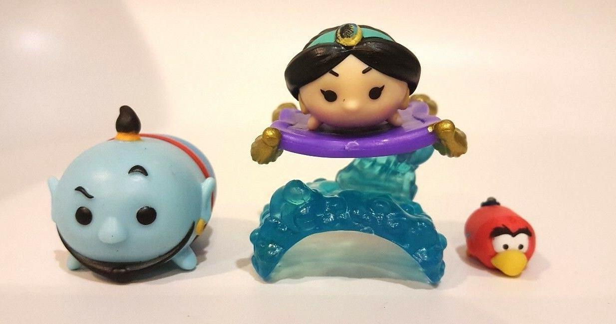 Disney Tsum Tsum Lot Jasmine Stacker, Genie, Lago - New out