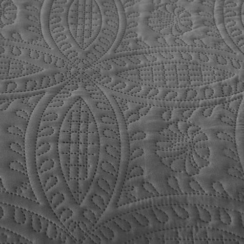Embossed Quilted Quilt Set Shams Bedding Cover