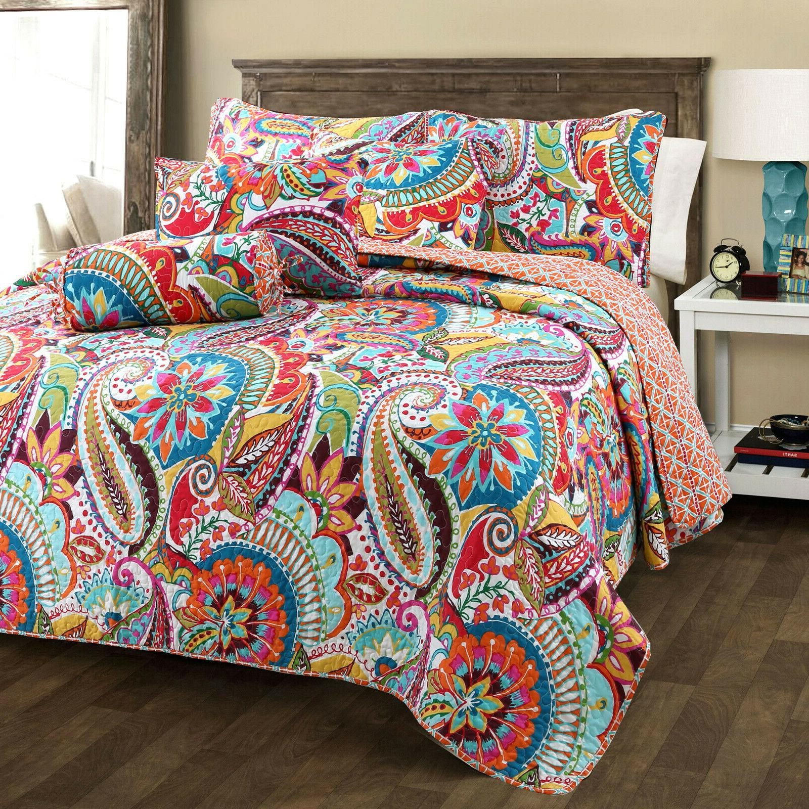 Gypsy 3-Piece Reversible Quilt Set, Bedspread, Coverlet