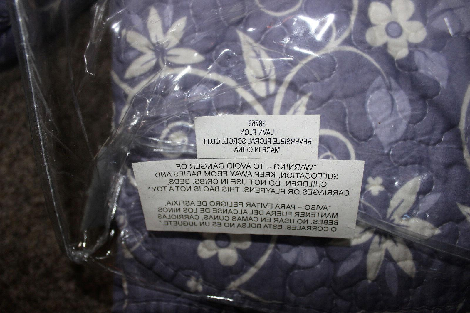 New & 86 x quilted bedspread &