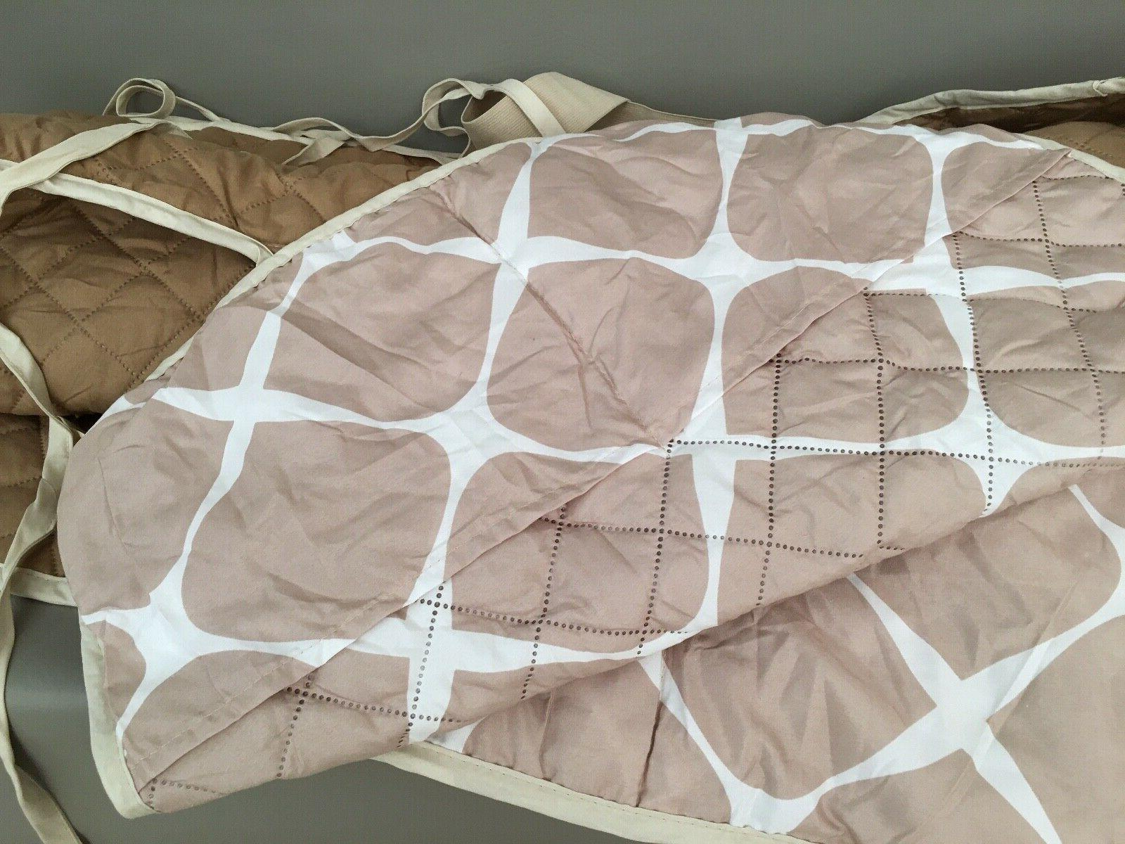 New Quilted Sofa Cover w/Smart Pockets-REVERSIBLE!