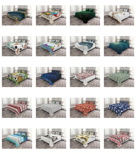 Ambesonne Printed Cover Set Decorative Coverlet Bedspread