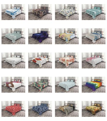 Ambesonne Quilted Cover Set Decorative Bedspread