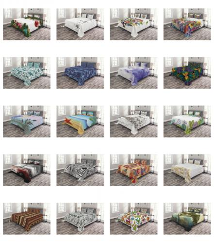 printed quilted bed cover set decorative coverlet
