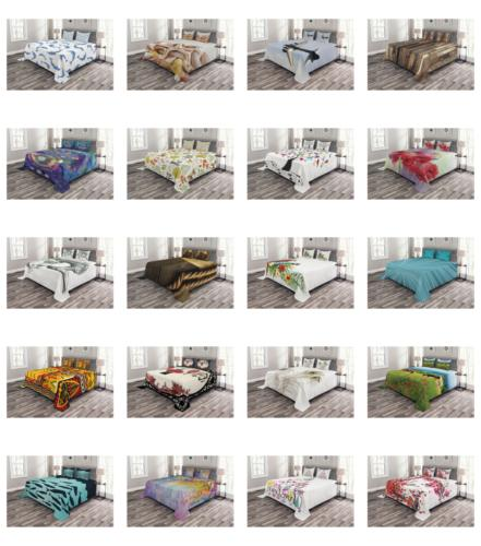 Quilted Bedspread Printed