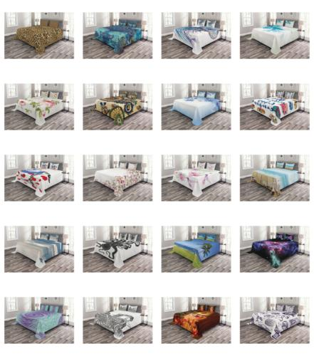 Quilted Bedspread Set Decorative Printed
