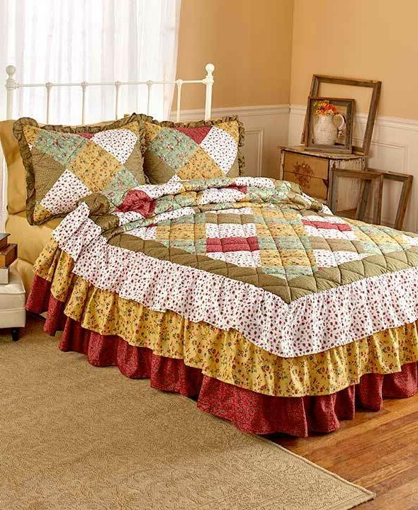 Quilted Floral Oakridge Triple Full