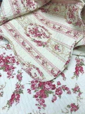 Shabby Chic 100% Cotton Bedspread, Coverlet