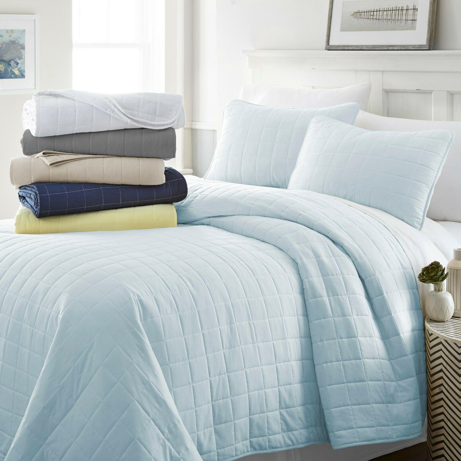 ultra soft hypoallergenic quilted 3 piece coverlet
