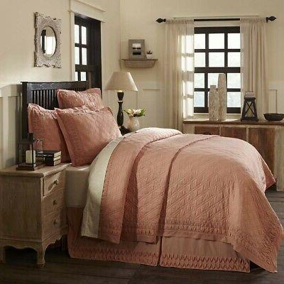 VHC Farmhouse Reversible Quilt Queen Twin Blanket Bedspread 3