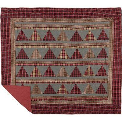 VHC Patchwork Queen Cotton Blanket Reversible Quilted