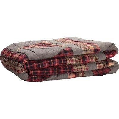 VHC Farmhouse Patchwork Queen Bedspread Reversible Quilted