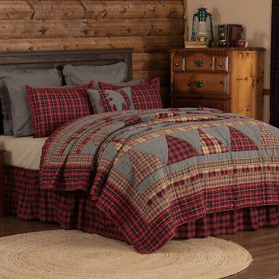 VHC Farmhouse Queen Cotton Bedspread Blanket Reversible Quilted