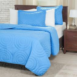 Lightweight Summer Full/Queen Size Quilted Blanket Coil Ring