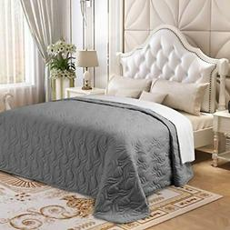Lorient Home Embroidered Quilt - Microfiber Oversized King S