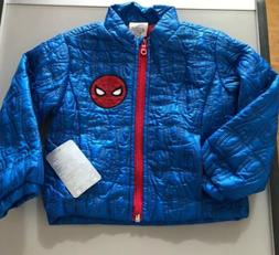 Disney Marvel Comics Spiderman Zip Up Quilted Fall Jacket Bo