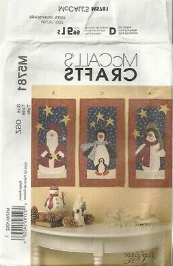 MCCALLS CRAFTS M5781 Pearl Louise MINI HOLIDAY QUILTS SEWING