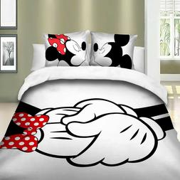 Mickey&Minnie 2/3Pieces Duvet Cover Set Twin/Full/Queen/King