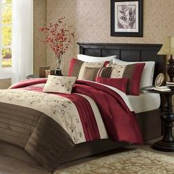Madison Park MP10-307 Serene Comforter Set Queen Brick,Queen