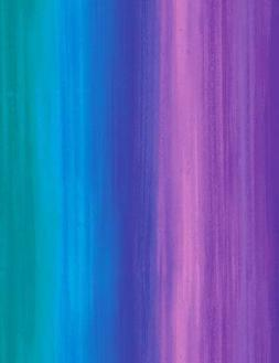 """Multi color bright ombre  44"""" quilt fabric Misty stripe CD68"""