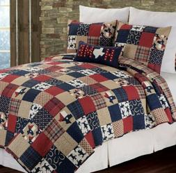 NEW $179 C&F Home Texas Multicolored Quilt  King Size
