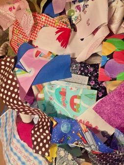 New Fabric Scraps Quilting/Scrapbooking/Doll Clothes Lot Of