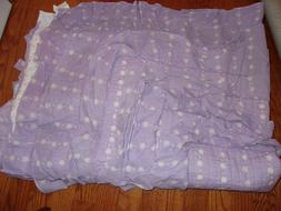 New Levtex Lavender/White Floral Ruffled Twin Coverlet & Sha