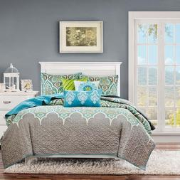 Madison Park Nisha 6 Piece Quilted Coverlet Set