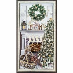 Timeless Treasures Noel Christmas Fabric Panel quilting Cott
