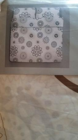 IKEA OLEBY BROWN GREY HEARTS quilt cover F/Q size w/2 shams
