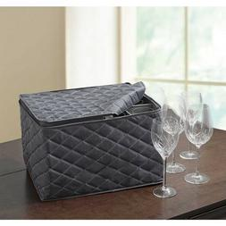 ORG Quilted 3-Layer Stemware Saver Home Kitchen Wine Glasses