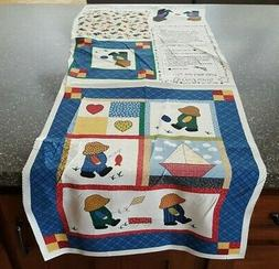 Overall Sam Mini Quilt Panel 18x42 Little Quilts Fabri-Quilt