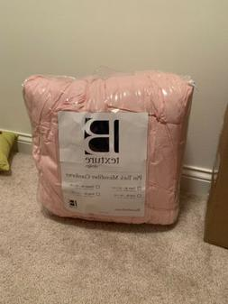 Pink Pintuck Twin Xl Comforter Bed In A Bag - Comforter With